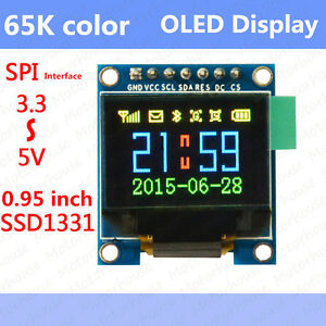 65k Color Screen Oled Display Serial Spi 3 3v 5v Module For Arduino Uno Avr 51