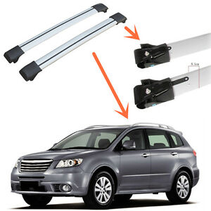 For Subaru Tribeca 2008 14 Plastic aluminum Alloy Roof Crossbar Luggage Rack