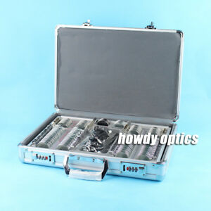 104 Trial Lens Set Optical Trial Lens Case Metal Rim Alu Case Free Trial Frame