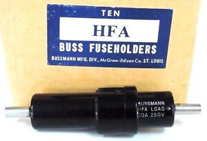 Box Of 10 New Bussmann Hfa Buss Fuseholders Fuse Holders 20a 250v 1 4 x1 1 4