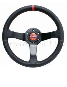 Sparco Champion Steering Wheel 330 Mm Perforated Leather With Red Stitching