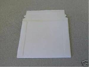 500 New White 6 Cardboard Cd Dvd Mailers W seal Js92