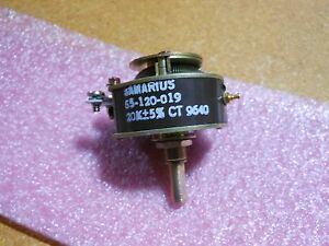Samarius Variable Resistor 55 120 019 Nsn 5905 01 159 0776