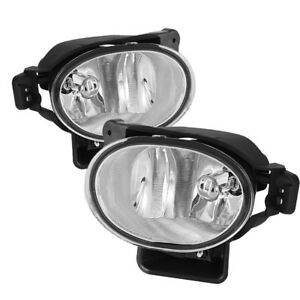 2007 2008 Acura Tl Base Type s Fog Lights Bumper Lamps Clear Pair Set W bulbs