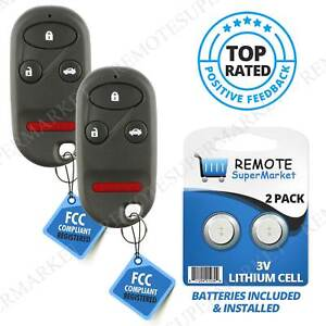 Replacement For Acura 1999 2003 Tl Honda 1998 2002 Accord Remote Key Fob Pair