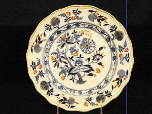 Antique Staffordshire Meissen Blue Onion Hand Finished Plates 9 1 4 Dia
