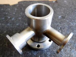 Varian High Vacuum Research Chamber Y L Elbow Connector Flange 1 5 Outer