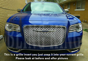 Fits 2015 2020 Chrysler 300 Chrome Mesh Grille Bentley Grill Insert Overlay Trim