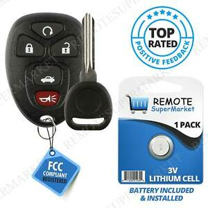 Replacement For Chevy 2005 2010 Cobalt 2004 2012 Malibu Remote Key Fob 5b Set