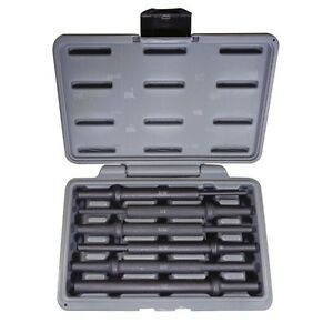 Atd Tools Atd 5736 6 Piece Extra Long Air Hammer Drift Set With Storage Case New