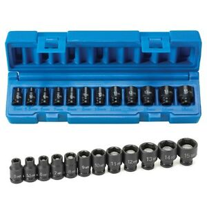 Grey Pneumatic 9712mg 1 4 Inch Drive 12 Piece Metric Magnetic Impact Socket Set