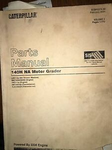 Caterpillar 140h Na Motor Grader Parts Manual Volume I