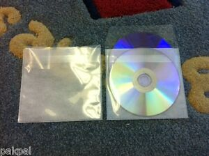 1000 Double Cd Dvd Pp Sleeves W non woven Fabric Liner Tuck in Flap Ps15