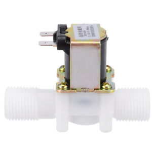 12v 1 2 N c Plastic Electric Solenoid Valve Magnetic Water Air Normally Closed
