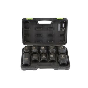 10 Piece 1 Drive Sae Metric Truck Service Impact Socket Set With Case New