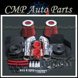 Red Fit 2008 2013 Infiniti G37 3 7 3 7l Dual Cold Air Intake Kit Systems