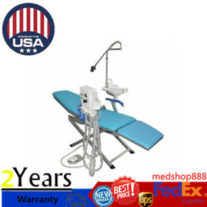 Dental Portable Folding Chair led Light dental Turbine Unit weak Suction 4h Sale