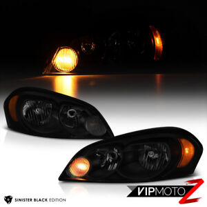 2006 2013 Chevrolet Impala Sinister Black Front Headlights Lamps Left Right