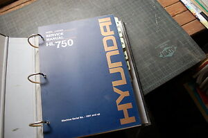Hyundai Hl750 Front End Wheel Loader Repair Shop Service Manual Book Overhaul