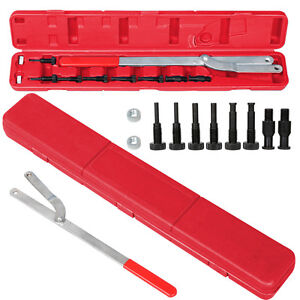 Universal Pulley Holder Spread Interchangeable Pin Fan Clutch Tool Set Us Ship
