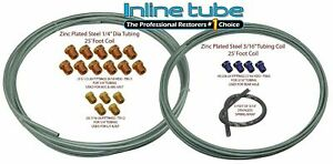 1999 07 Chevy Gmc Truck Zinc Coil Steel Brake Line Repair Kit 3 16