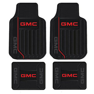 New 4pc Gmc Elite All Weather Heavy Duty Rubber Front Back Floor Mats Set