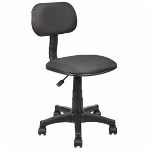 Pemberly Row Adjustable Steno Task Office Chair In Black