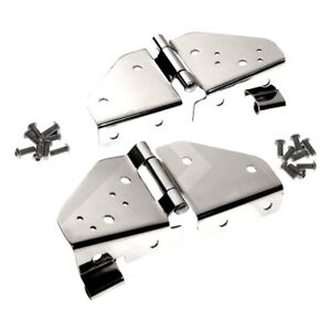 Windshield Hinges Stainless For Jeep Cj5 Cj7 Wrangler Yj 1976 1995 Rt34017 Crown