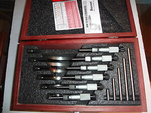 Starrett S226 226 Series Outside Micrometer Set 0 6