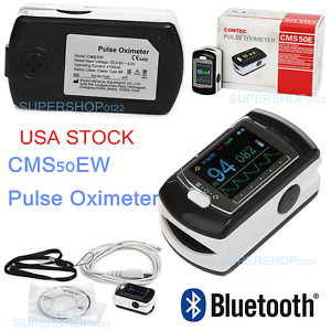 Cms50ew Fingertip Pulse Oximeter With Bluetooth Oled Display Rechargeable Usa