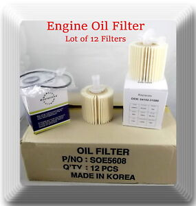 Case Of 12 Engine Oil Filter Ch9972 Fits Lexus Scion Toyota