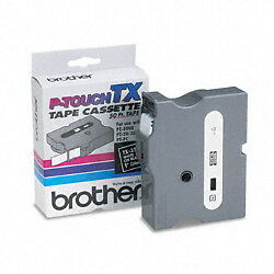 Brother Tx 3551 1 White On Black P touch Tape Tx3551 Genuine Ptouch Label