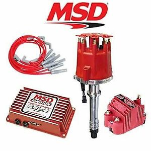 Msd 9251 Ignition Kit Programmable 6al 2 Distributor Wires Coil Chevy Big Block