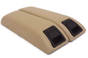 Center Console Armrest Leather Synthetic Cover For Lincoln Mkx 11 15 Beige