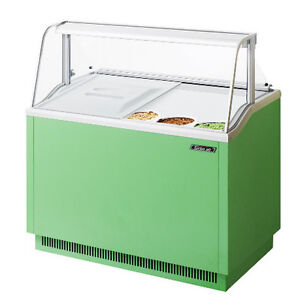 Turbo Air Tidc 47g n Ice Cream Dipping Cabinet Green