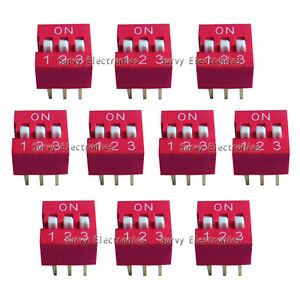 100pcs New 3p 3 Position Dip Switch Side Style 2 54mm Pitch Through Hole Diy