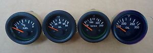Gauges Set 4 Pc Oil Pressure Temperature Oil Temp Fuel Gauge 2 Elec