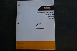 Case Cx350b Crawler Excavator Trackhoe Owner Operator Maintenance Manual Book