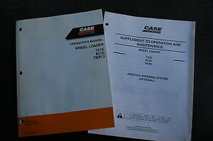 Case 721e 821e Front End Wheel Loader Owner Operator Maintenance Manual Book