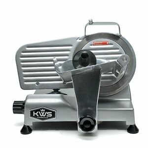 Kws Premium Commercial 200w Electric Meat Slicer 6 Frozen Meat Deli Slicer