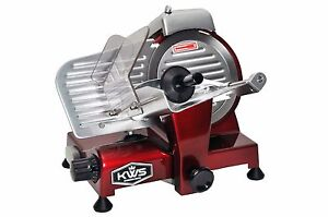 Kws Premium Commercial 200w Electric Meat Slicer 6 Frozen Meat Deli Slicer Red
