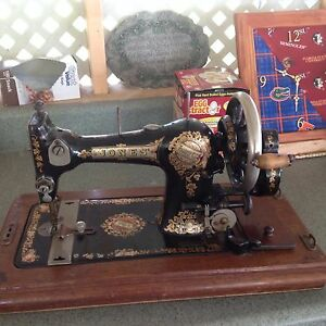 Jones Hand Crank Sewing Machine Antique Late 1800 S Or Early 1900 S