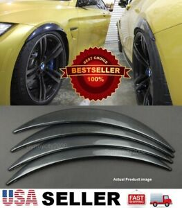2 Pairs Carbon Effect 1 Diffuser Wide Fender Flares Extension For Bmw