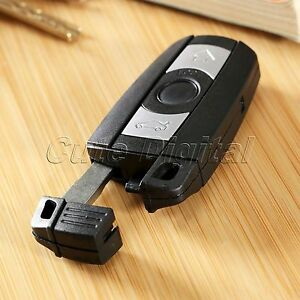 Smart Remote Key Shell Case Blank Key Replacement For Bmw 1 3 5 6 Series 3 Btn