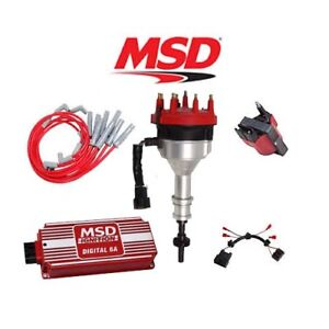 Msd Ignition Kit Digital 6a distributor wires coil harness 94 95 Ford Mustang