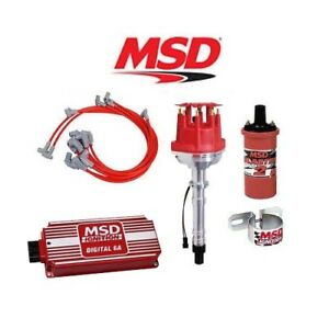Msd 90361 Ignition Kit Digital 6a Small Cap Distributor Wires Coil Bracket Sbc