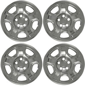New Set Of 4 16 Chrome Wheel Skins For 2002 2007 Jeep Liberty 16 Steel Wheels