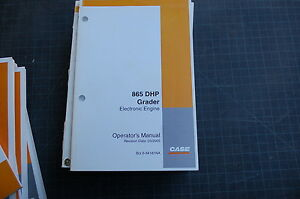 Case 865 Dhp Motor Grader Owner Operator Maintenance Manual Book Road 2005 Guide