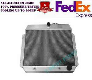 Fit 1951 54 Chevy Styleline Deluxe Pickup V8 Engine All Aluminum Radiator 3 Rows