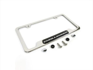 2008 2020 Dodge Challenger Chrome License Plate Frame Oem Mopar New 82214923